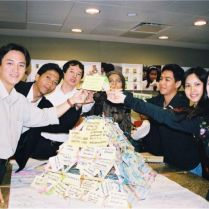 Asian media professionals at one of the first Pyramid workshops, 2002