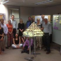 "The staff of GIZ South Africa did a Pyramid to develop new ideas for the ""Skills for Green Jobs"" program"