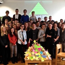 High school students in Lustenau complete the first Pyramid in Austria, focused on actions to contribute to global sustainability
